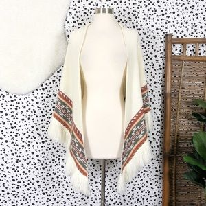 Vintage | Bohemian Sally Gee Wrap Sweater Shrug OS